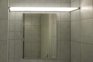 Plexiglas LED-Panel als Spiegelleuchte