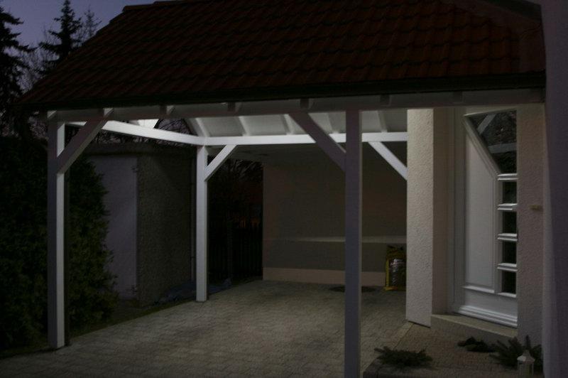 sparsame carport beleuchtung. Black Bedroom Furniture Sets. Home Design Ideas