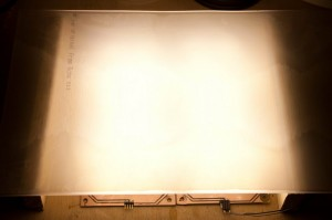 LED-Module mit Plexiglas