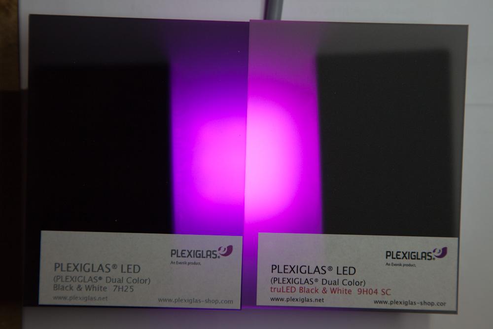 plexiglas schwarz zur led beleuchtung. Black Bedroom Furniture Sets. Home Design Ideas