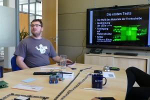 Carsten stell die Matrix mit 1024 LEDs vor