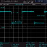 Clock-Signal bei 1MHz nach ca. 100 Pixeln
