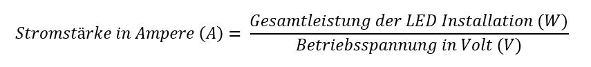 Berechnung für LED Controller