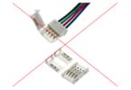 Clips für LED-Streifen sind nicht empfehlenswert