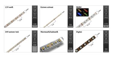 LED-Flexband Typen