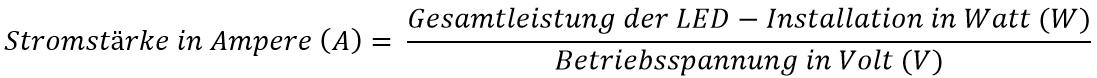 Stromstärke Formel
