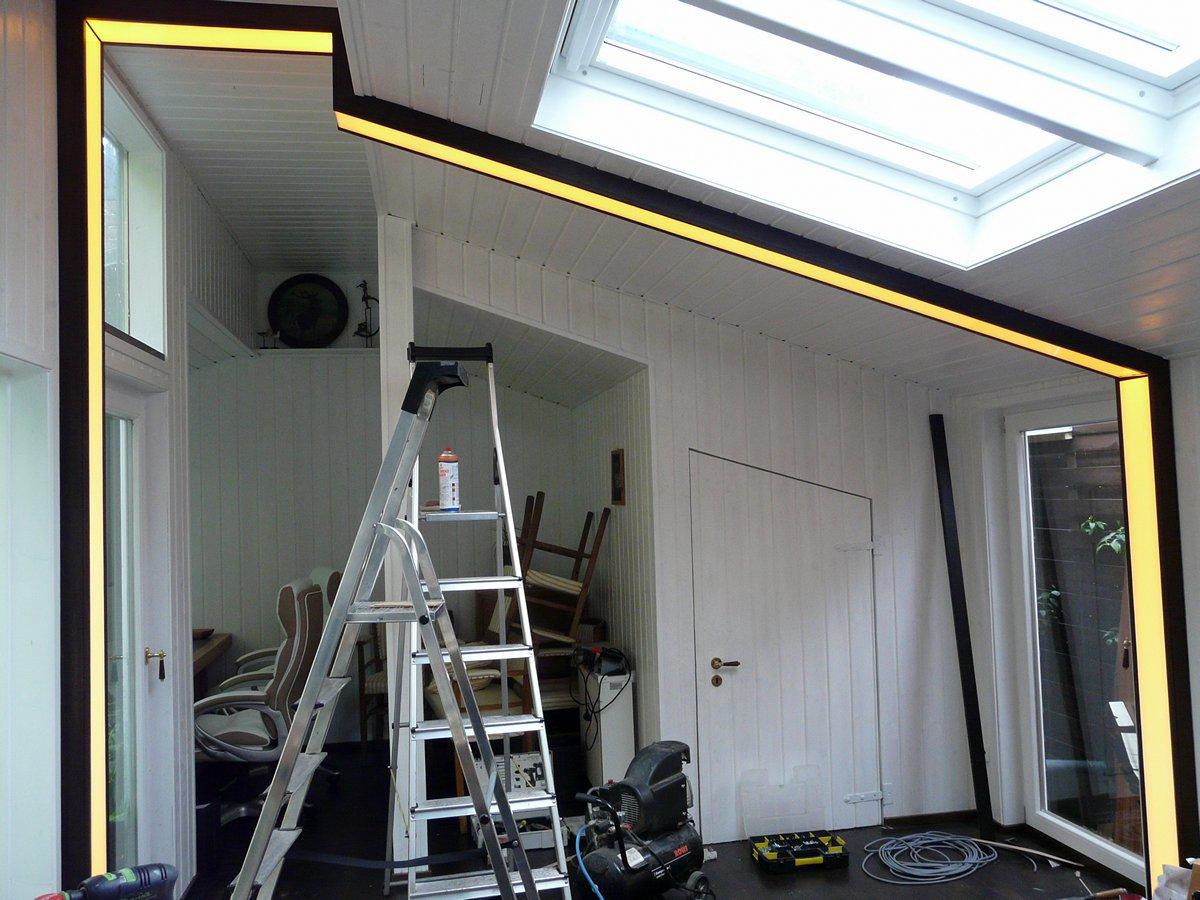 LED Raumteiler - Aufbau