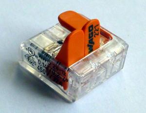 Wago-Klemme zum Anschluss von LED-Streifen