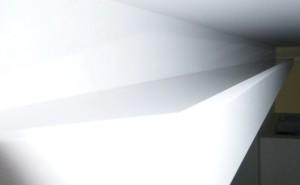 indirekte LED Beleuchtung - Abdeckung mit Plexiglas