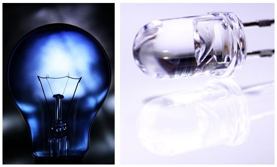 LED Vergleich Glühlampe