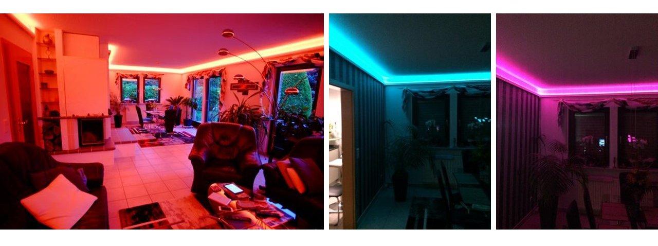 Indirekte Beleuchtung mit RGB LED