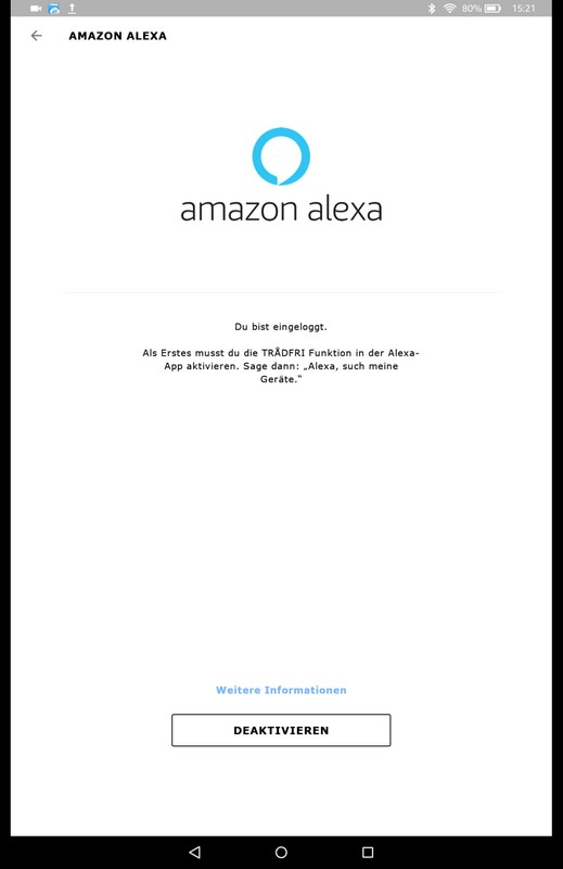 ALEXA Integration bei TRADFRI 4