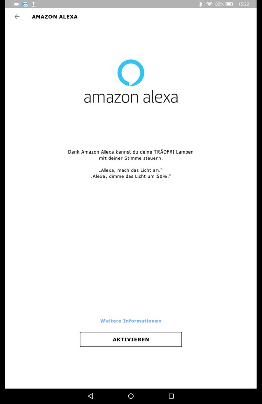 ALEXA Integration bei TRADFRI 5