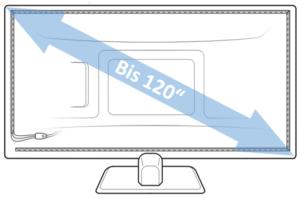 120 zoll sind maximal bei DreamScreen möglich