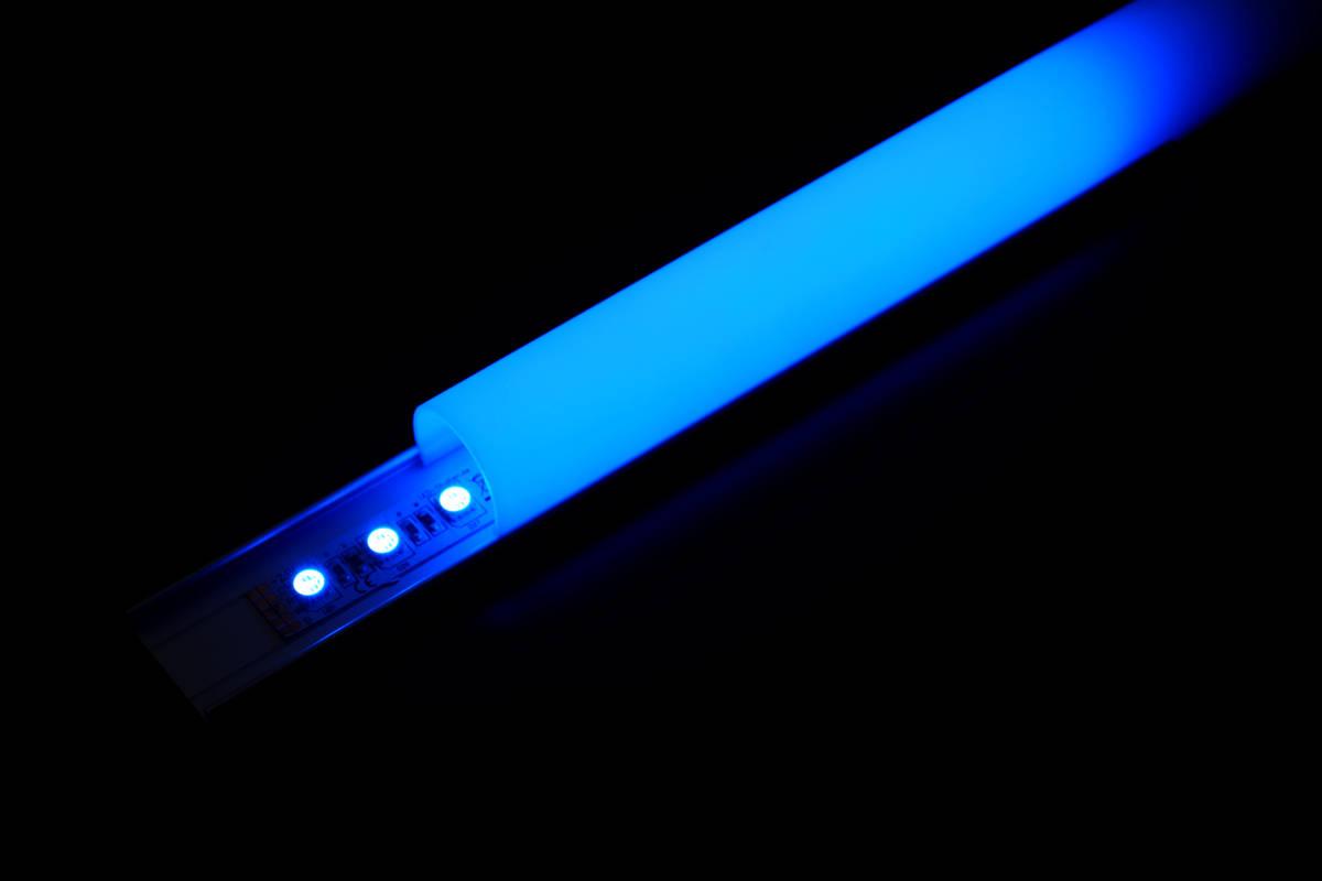 PN4 Aluprofil mit Abdeckung opal, halbrung erzeugt durchgängiges Lichtband ohne Spots