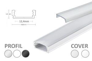 Alu-Leiste für LED-Streifen, U-Form