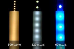 LED Test mit Aluprofil PL1