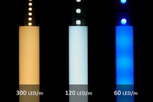 LED-Streifen Vergleich im Aluprofil PL2 mit 12mm Höhe