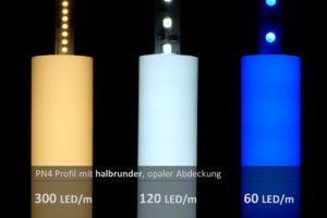 LED-Streifen Test im Aluprofil PN4