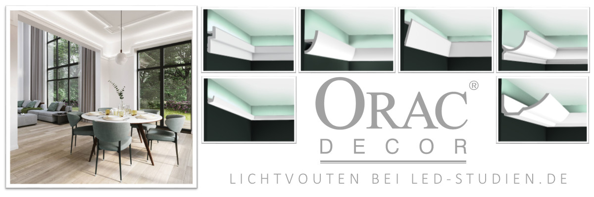 ORAC DECOR Stuckleisten & Lichtvouten
