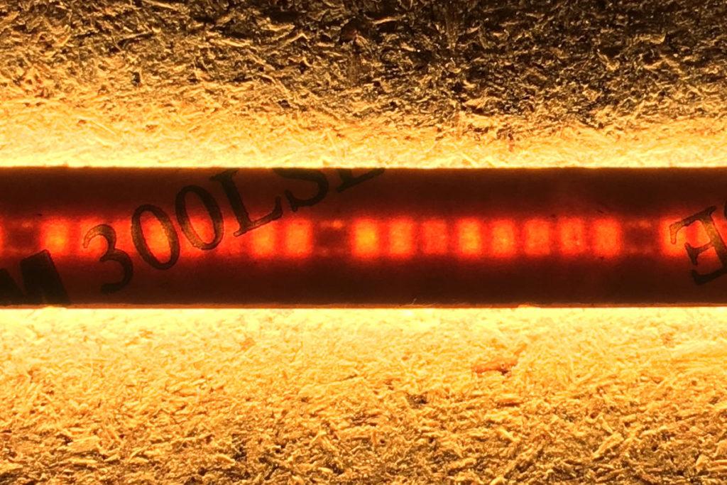 COB-LED-Streifen von unten
