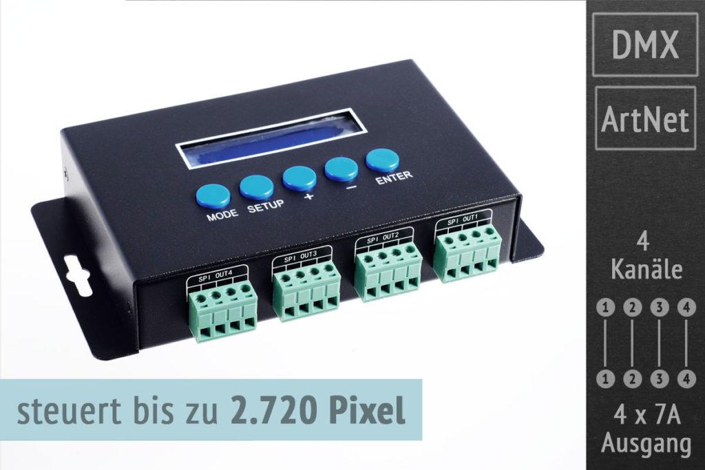 ArtNet Pixel Controller 4x7A