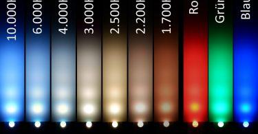 Farbtemperaturen mit RGBW