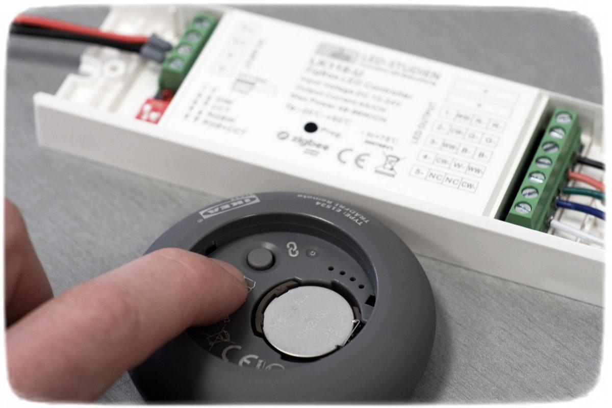 Ein ZigBee-LED-Controller wird in IKEA TRADFRI eingebunden