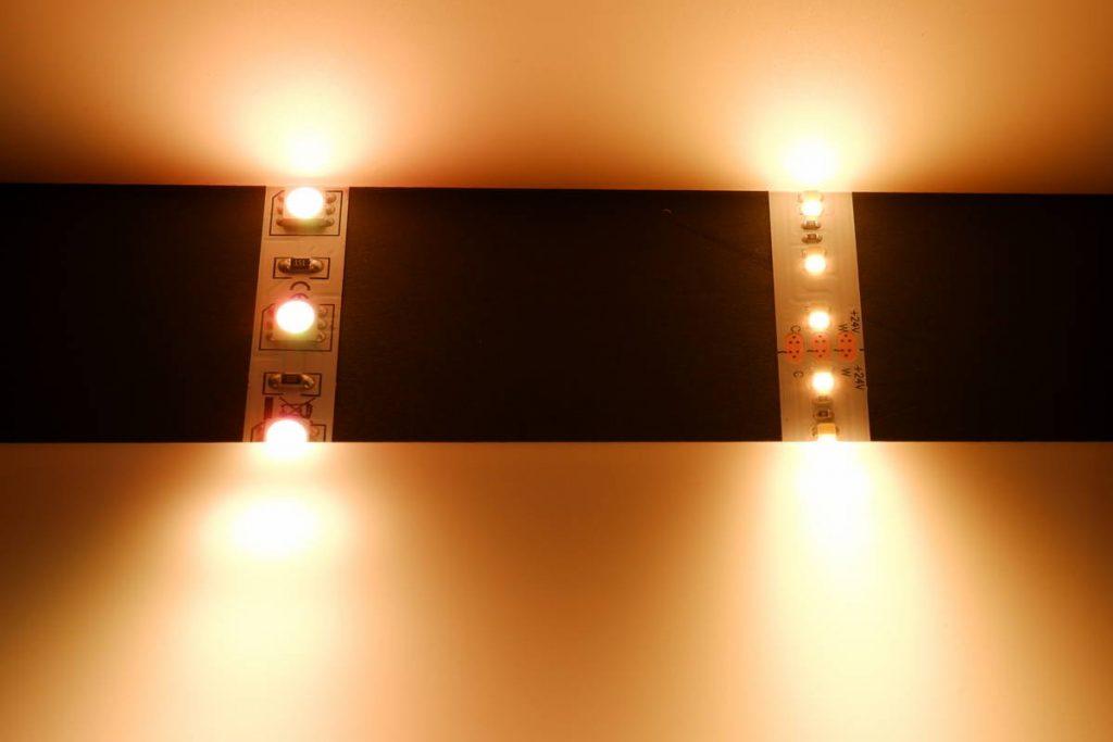 Warmweiß mit RGB LED gemischt