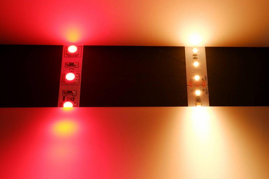 RGB auf Weiss gemischt (Rot)